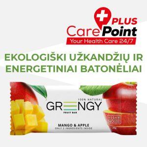 carepoint greengy ekologiški batonėliai
